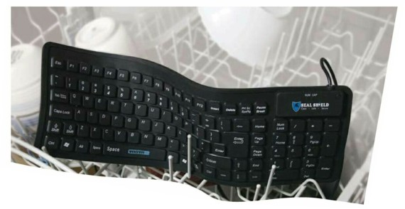 Flexible Rubber Computer Keyboard